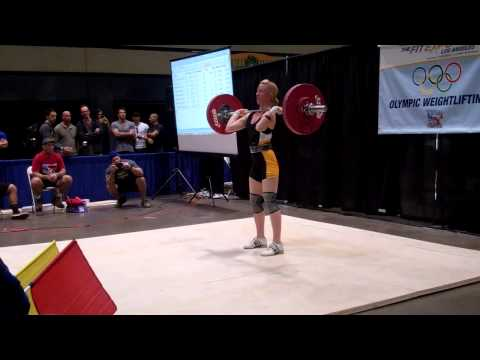 American Record Makers Gillian Formaneck 75 kg jerk