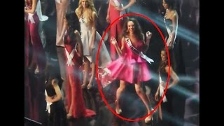 ADORABLE! Miss Netherlands Zoey Ivory Dances It Off At The Stage In The 65th Miss Universe