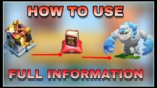 CLASH OF CLANS : how to use new coc troops ( ice golem ) | coc new update