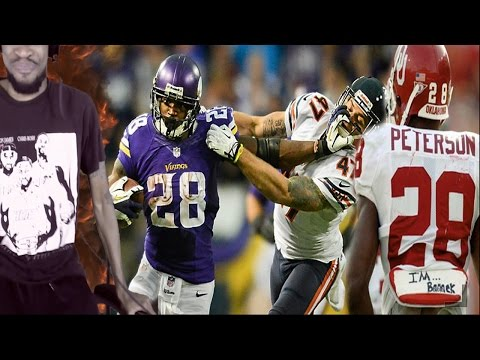 THE BEST RB I'VE EVER SEEN! ADRIAN PETERSON COLLEGE/NFL HIGHLIGHTS REACTION!