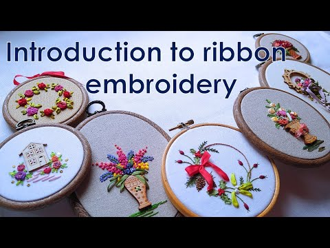 Introduction to ribbon work hand embroidery