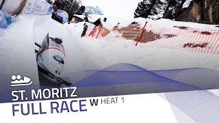 St. Moritz | BMW IBSF World Cup 2018/2019 - Women's Bobsleigh Heat 1 | IBSF Official