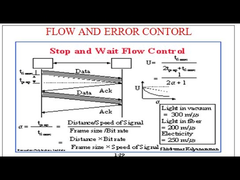 Flow Control AND ERROR CONTROL: STOP AND WAIT FLOW CONTORL