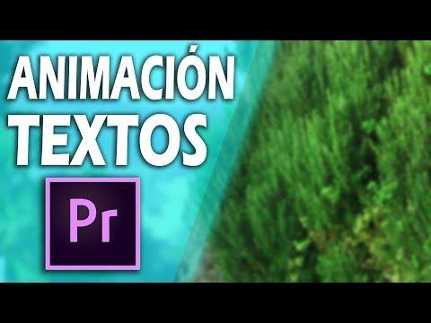 Animación de Textos Básica en Adobe Premiere Pro | Tutorial Premiere CC thumbnail