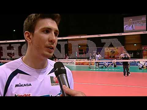 Alex Ferreira flash interview after The Netherlands-Portugal (World League 2015)