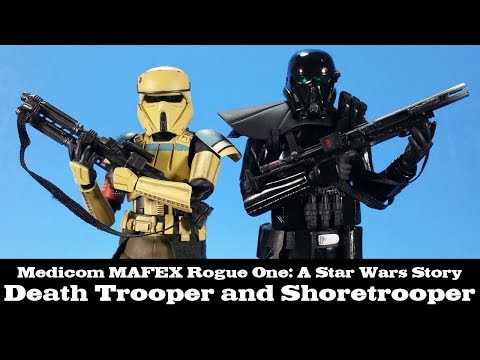 MAFEX Death Trooper and Scarif Shoretrooper Rogue One A Star Wars Story Medicom