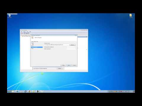 Creating a Scheduled Task to Open Your Timesheet on Windows 7