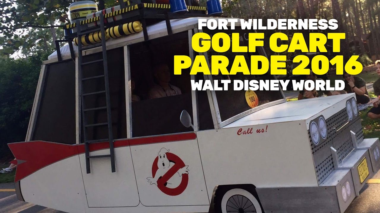 halloween golf cart parade at disneys fort wilderness campground