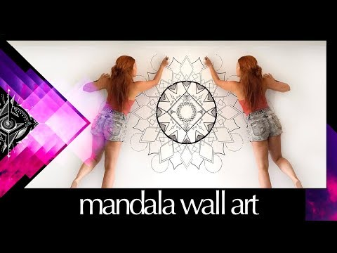 Freehand Mandala Wall Mural Speed Painting – No Stencils Zentangle Art