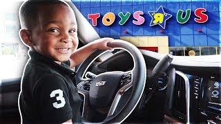 DJ Takes Mommy's Car To Go To Toy's R Us