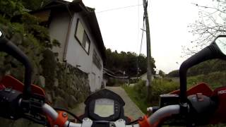 小型バイクで暗峠越え(Throughout the Kuragari pass by KTM 125 DUKE ABS)