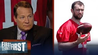 Eric Mangini isn't concerned by Andrew Luck sidelined with calf sprain | NFL | FIRST THINGS FIRST