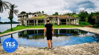 abandoned 10000000 mansion of pablo escobar paint balled inside