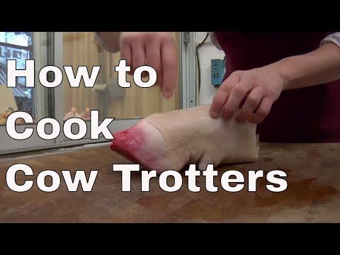 how to cook mautrina cow foot recipe