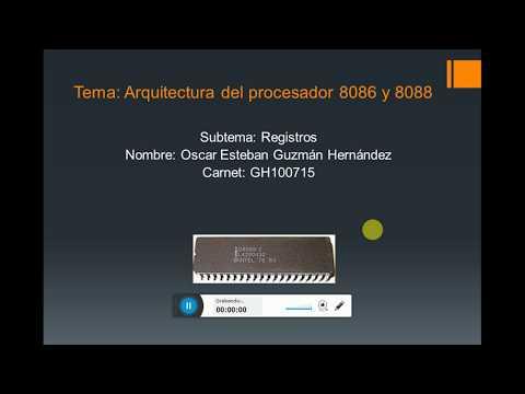 Arquitectura del microprocesador intel 8086 y 8088 (Registros)