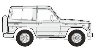 How to Draw a Toyota Land Cruiser 400 Hard Top / Как нарисовать Toyota Land Cruiser 400 Hard Top