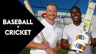 BASEBALL V CRICKET: New York Yankee Tries Out Cricket | SKY TV
