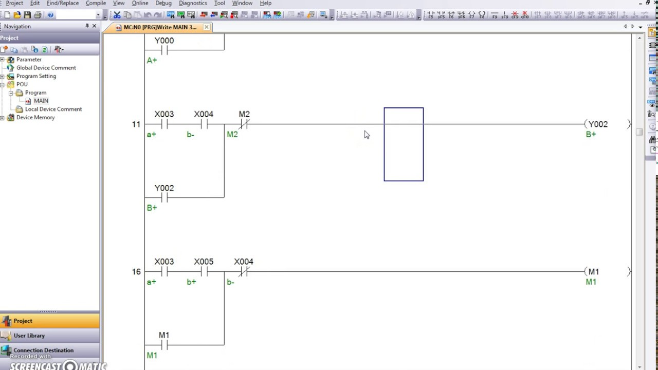 Pneumatic Plc Ladder Diagram Tutorial In Gx Works 2 For Sequence A B A B Automation Youtube