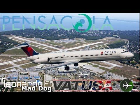 Delta MD88 on Vatsim FNO at Pensacola