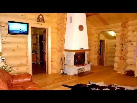 Видеорепортаж о доме из бруса 6*8 - YouTube