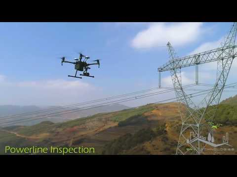 Sky Technologies Drone UAV Aerial inspection of Power Line Transmission Towers Maharashtra India