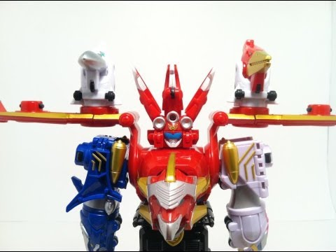 Megaforce Sky Brothers Zord And Red Ranger Review