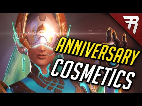 ANNIVERSARY EVENT: Dance Emotes, Skins, Voice Lines - ALL COSMETICS showcased [Overwatch]