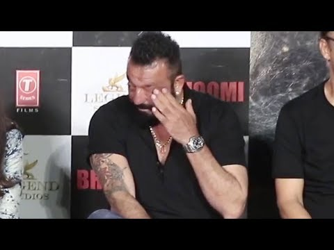 Sanjay Dutt GETS EMOTIONAL at Bhoomi...