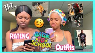 RATING MY SUBSCRIBERS FIRST DAY OF SCHOOL OUTFITS! 🔥