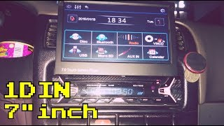 SINGLE DIN CAR STEREO WITH 7