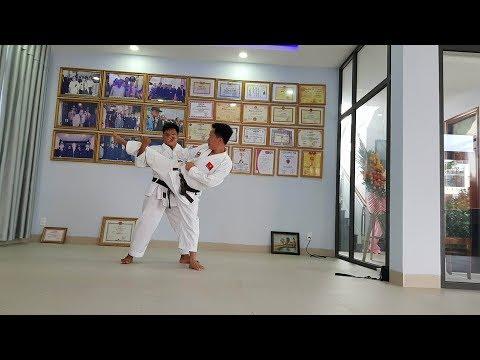 Chương trình đối luyện thi lên đai nâu kyu 1 karate do Võ đường Ngọc Hòa