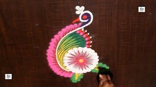Very Simple Creative Rangoli/kolam  || maitrin 2018