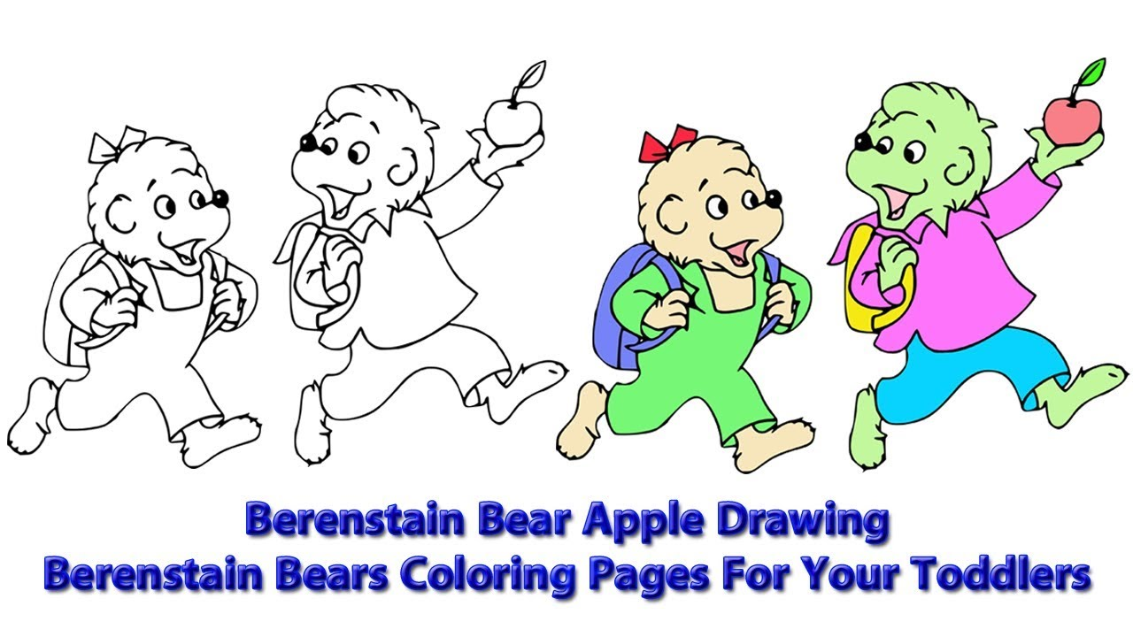- Berenstain Bear Apple Drawing Berenstain Bears Coloring Pages