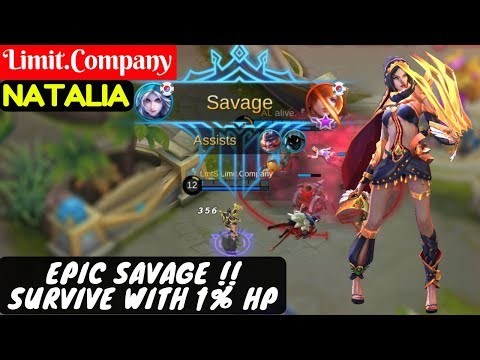EPIC SAVAGE !! Survive With 1% HP [Limit.Company Natalia] | Limit.Company Natalia Gameplay And Build
