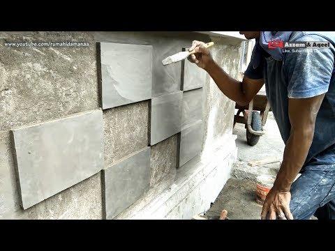 Cara Membuat Batu Alam Dinding Maju Mundur | #Eps61