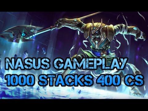 League of Legends Gameplay - 1000 STACKS NASUS