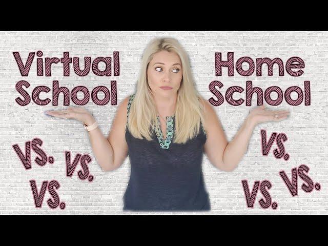 SIMILAR BUT DIFFERENT VIRTUAL SCHOOL VS HOMESCHOOL | School Year Choices 2020-2021