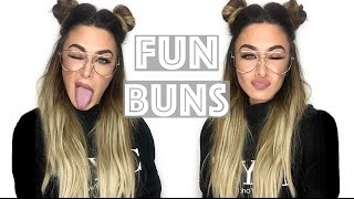 How to FunBuns half up half down with Bellami hair extensions