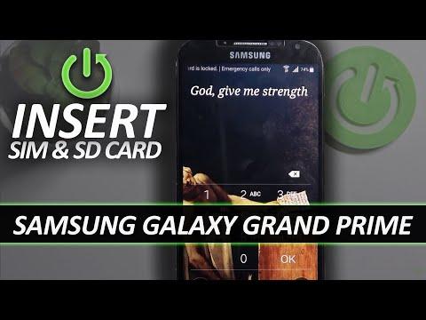 SAMSUNG Galaxy Grand Prime INSERT SIM & SD Card