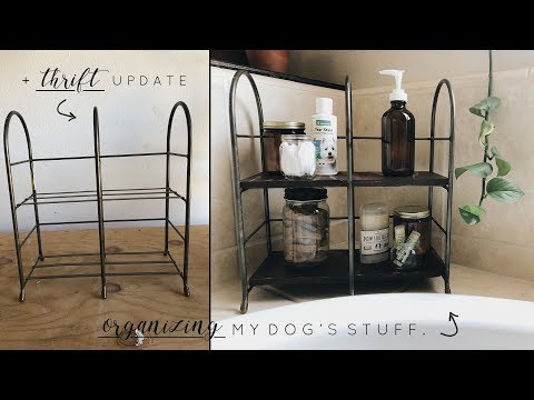 DIY Dog Organization + Easy Thrift Update