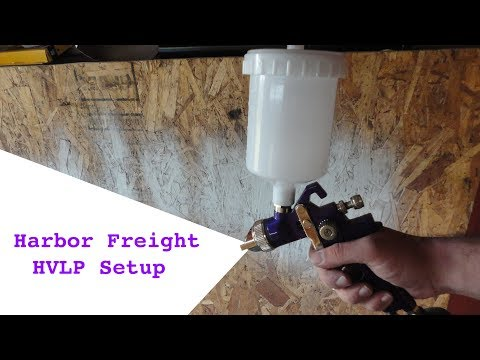 Harbor Freight HVLP Spray Gun Setup