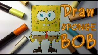 How to Drawing :: Mr. SpongeBoB  Squarepants Time-lapse