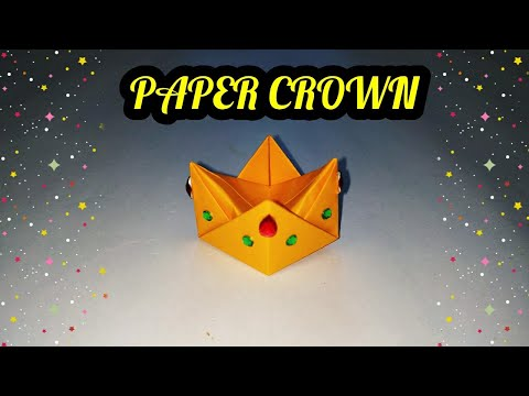 Origami Crown | Paper Crown | How to make Origami Crown | sweety trendzzz