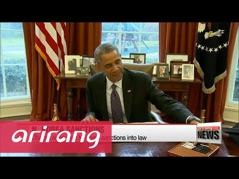Obama signs new North Korea sanctions into law