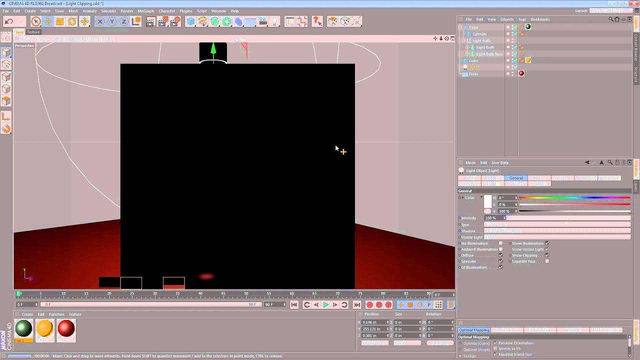 Light Clipping in Cinema 4D – jamie3d