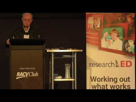 John Sweller -  ACE Conference/researchED Melbourne