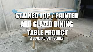 Painted Dining Table Makeover Project - Cleaning, Sanding, and Using my Sprayer to Paint Furniture