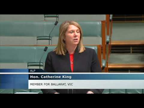 Shadow Health Minister Catherine King speaks on marriage equality and health in Parliament