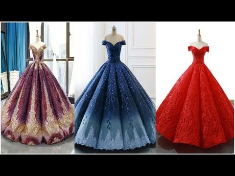 Top 30 Latest Off Shoulder Ball Gown Designs Collection 2020 Prom Dress Evening Dress Youtube