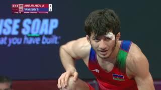 BRONZE FS - 57 kg: M. AMIRASLANOV (AZE) v. G. VANGELOV (BUL)
